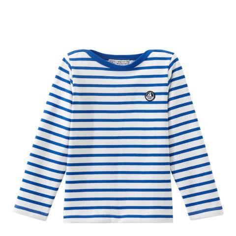 Petit Bateau Blue Long Sleeve Striped T-Shirt