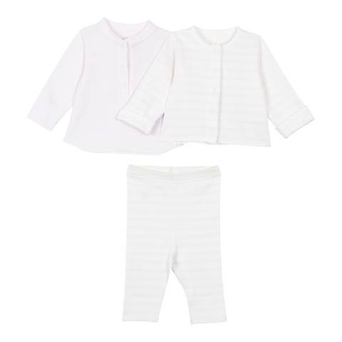 Petit Bateau Baby Girl's Pink/White Reversible Matching Set