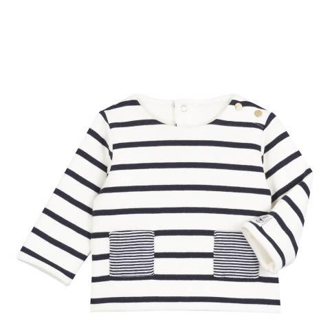 Petit Bateau Baby's Unisex Navy Striped Sailor Sweater