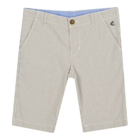 Petit Bateau Brown Striped Bermuda Shorts