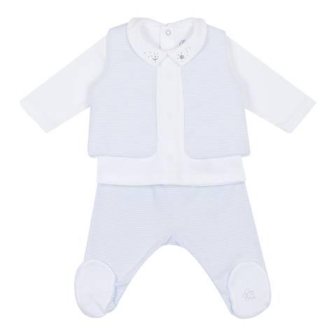 Petit Bateau Baby Boy's Blue  3-Piece Set