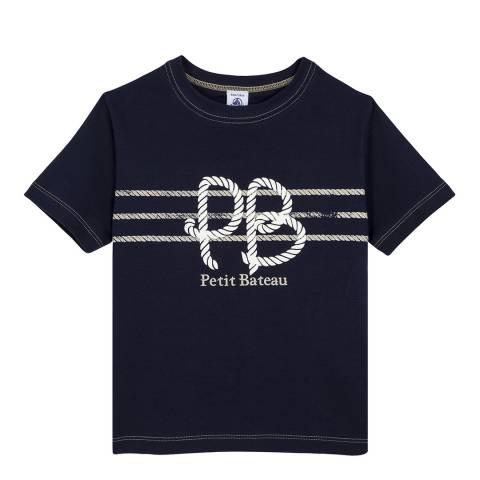 Petit Bateau Navy Screen Print T-Shirt