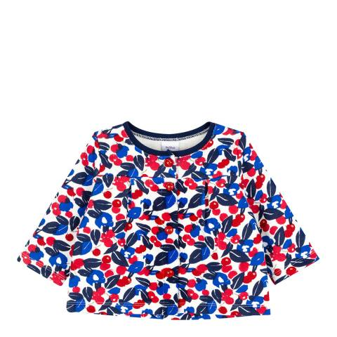 Petit Bateau Baby Girl's Multi Floral Print Cardigan