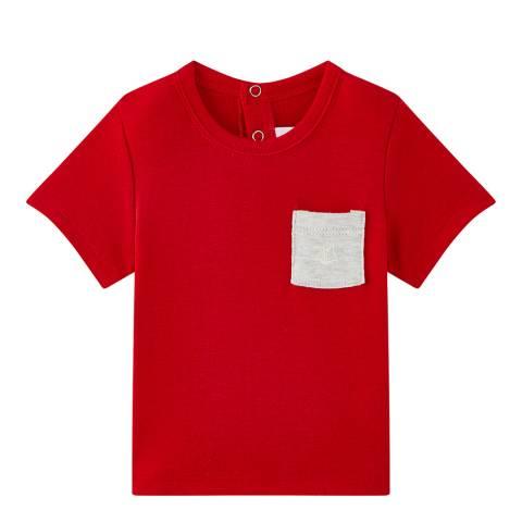 Petit Bateau Baby Boy's Red Plain T-Shirt