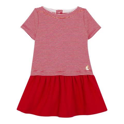 Petit Bateau Baby Girl's Red Milleraies Striped Dress