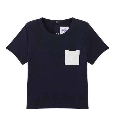 Petit Bateau Baby Boy's Navy Plain T-Shirt