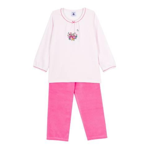 Petit Bateau Pink Velour Pyjamas