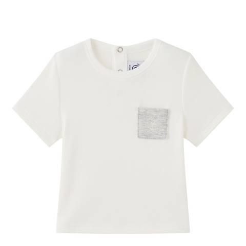 Petit Bateau Baby Boy's Cream Plain T-Shirt