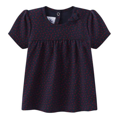 Petit Bateau Baby Girl's All Over Print T-Shirt