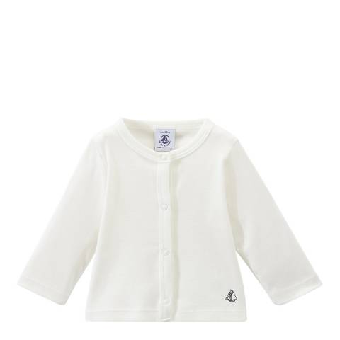 Petit Bateau Baby Girl's Cream Cardigan