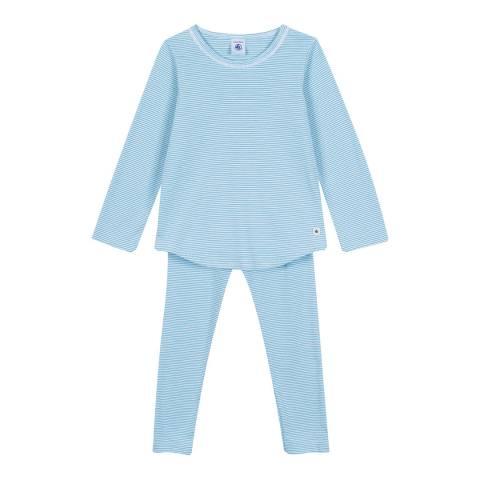 Petit Bateau Blue Milleraies-Striped Pyjamas