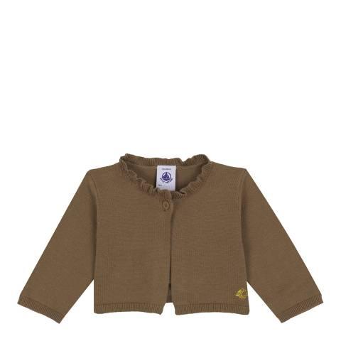 Petit Bateau Baby Girl's Brown Knit Bolero