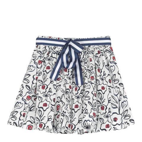 Petit Bateau Multi Printed Poplin Skirt