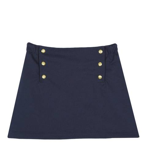 Petit Bateau Navy Skirt With Flap