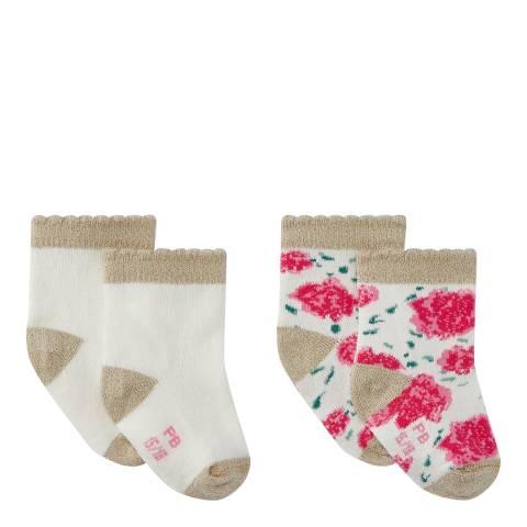Petit Bateau Baby Girl's Multi Two Sock Set