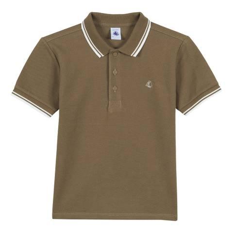 Petit Bateau Brown Short Sleeve Polo T-Shirt