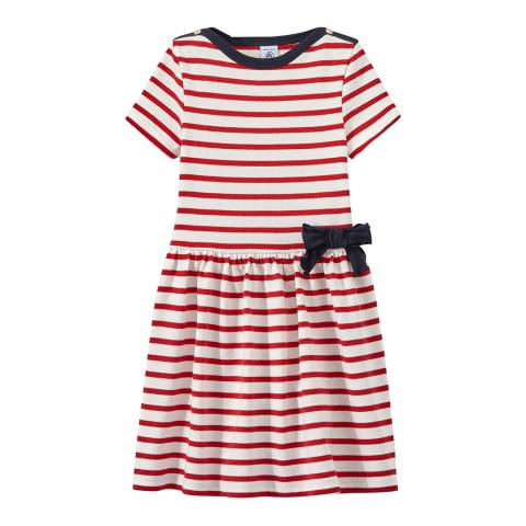 Petit Bateau Red/Navy Striped dress