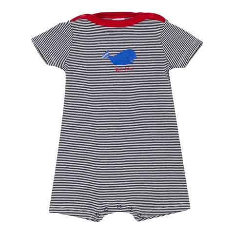 Petit Bateau Baby Boy's Midnight Striped Romper