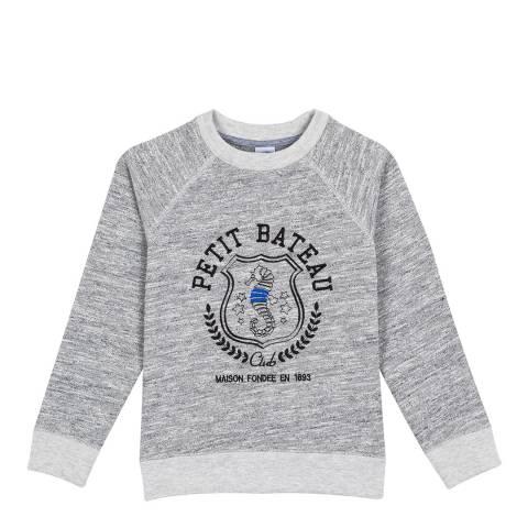 Petit Bateau Grey Heavyweight Jersey Sweatshirt