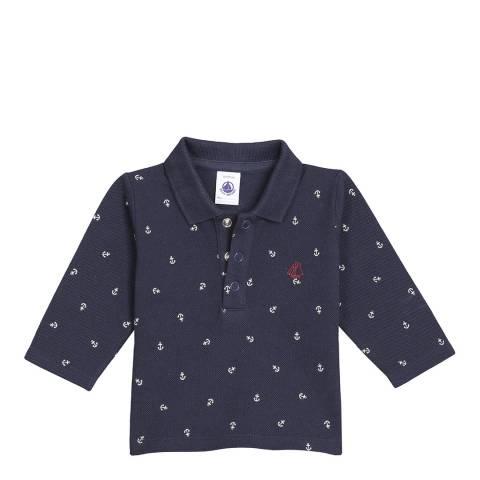 Petit Bateau Baby Boy's Navy Jersey Polo Shirt