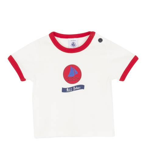 Petit Bateau Baby Boy's Cream Short-Sleeved T-Shirt