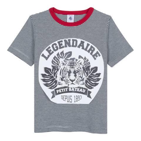 Petit Bateau Navy Milleraies Striped T-Shirt