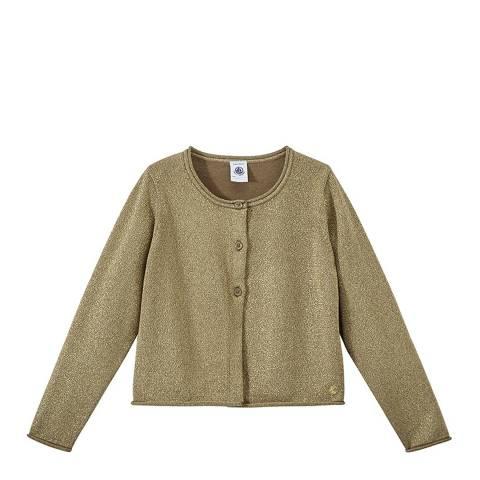 Petit Bateau Brown Sparkly Knit Cardigan