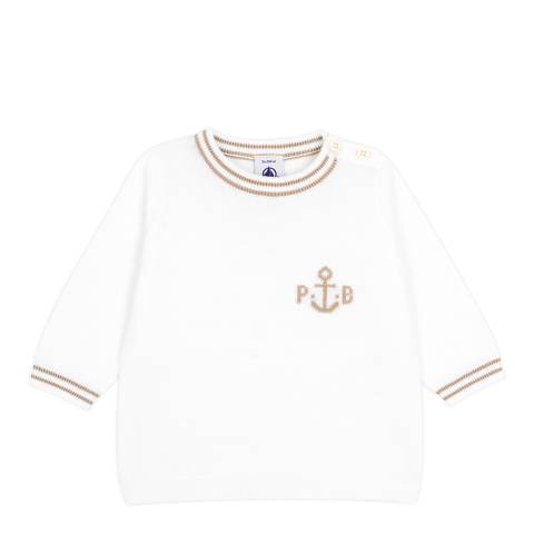 Petit Bateau Baby Boy's Cream Knit Sweater