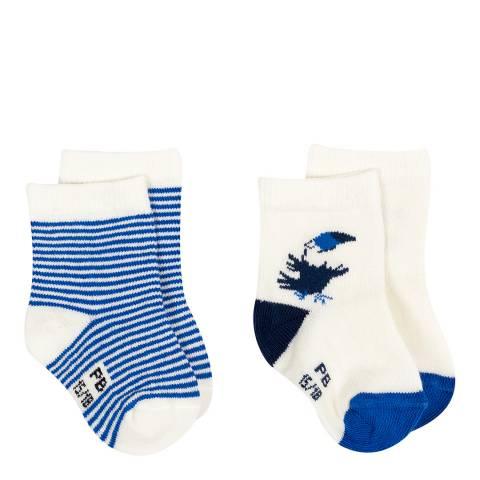 Petit Bateau Baby Boy's Blue Two Sock Set