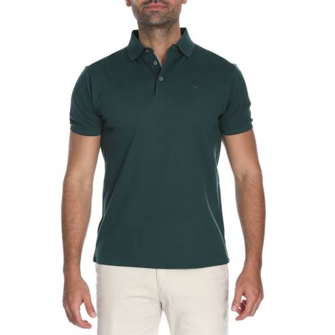 Hackett London Green Fine Tip Pique Polo Shirt