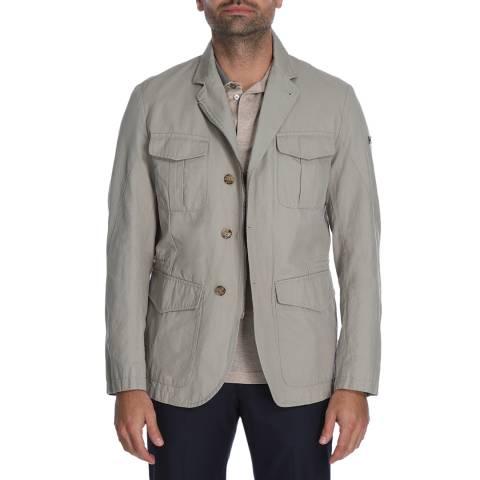 Hackett London Stone Waxed Cotton Safari Blazer