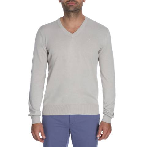 Hackett London Stone V Neck Pima Cotton Jumper