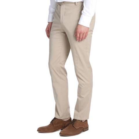 Hackett London Stone Formal Stretch Cotton Trousers