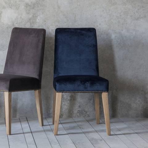 Gallery Pair of Rex Dining Chairs, Atlantic