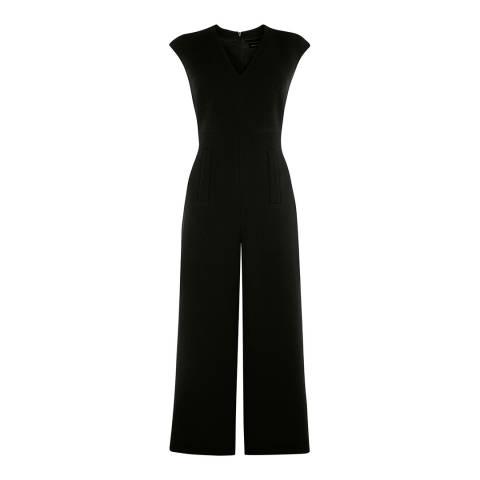 Karen Millen Black Tailored Culotte Jumpsuit