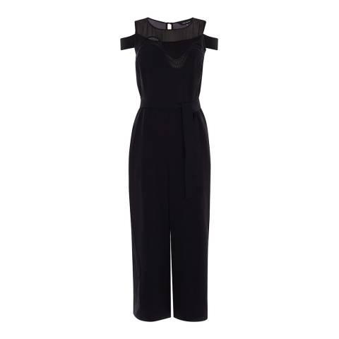 Karen Millen Black Lace Cowl Jumpsuit