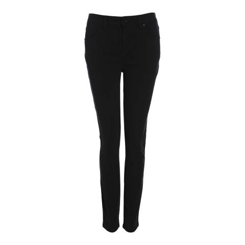 Karen Millen Black Cotton Skinny Jeans