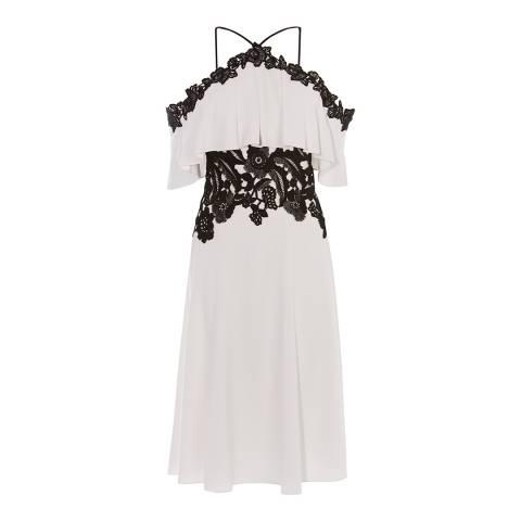 Karen Millen Monochrome Boho Off-The-Shoulder Dress
