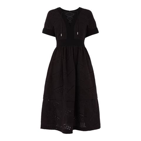 Karen Millen Black Lace A-Line Dress