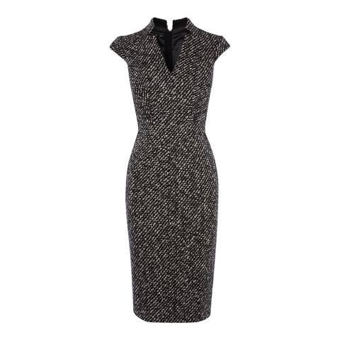 Karen Millen Black/White Tweed Pencil Dress