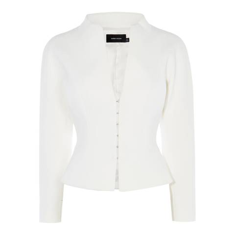 Karen Millen Ivory Textured Tailored Jacket