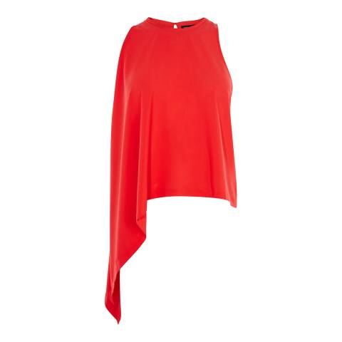 Karen Millen Red Knot Side Top