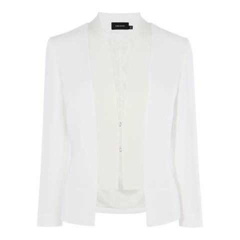 Karen Millen Ivory Structured Blazer