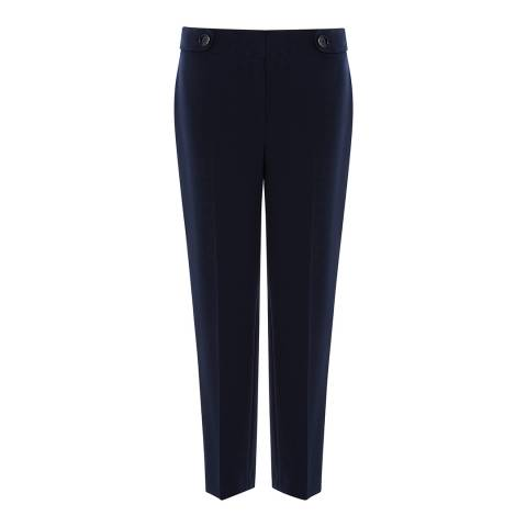 Karen Millen Navy Tapered Trousers