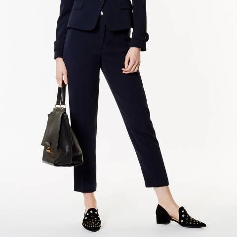 Karen Millen Navy Tapered Trousers
