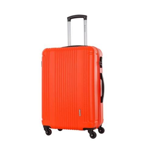 Platinium Orange 4 Wheel Antegria Suitcase 60cm
