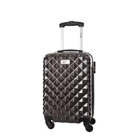 Steve Miller Charcoal 4 Wheel Rigid Heart Cabin Suitcase 46 cm