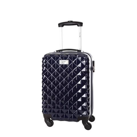 Steve Miller Blue Marine 4 Wheel Rigid Heart Cabin Suitcase 46 cm