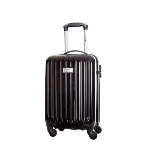 Steve Miller Black 4 Wheel Rigid Eagle Cabin Suitcase 46 cm