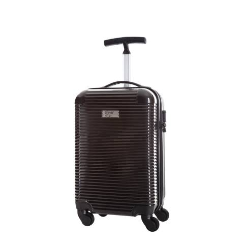 Steve Miller Black 4 Wheel Rigid Journey Cabin Suitcase 45cm